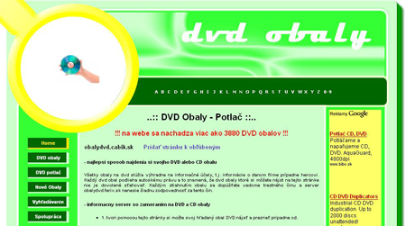 Obaly dvd